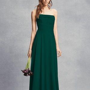 Dark Green - Vera Wang Strapless Dress